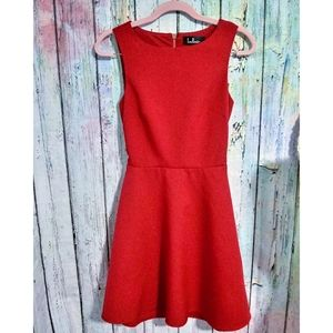 New LULUS Red Skater Dress